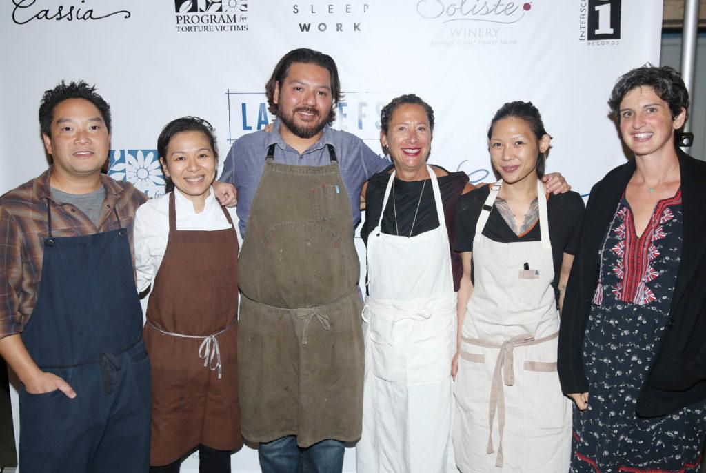 Chefs Bryant Ng, Niki Nakayama, Ray Garcia, Nancy Silverton, Liz Hong, and Zoe Nathan