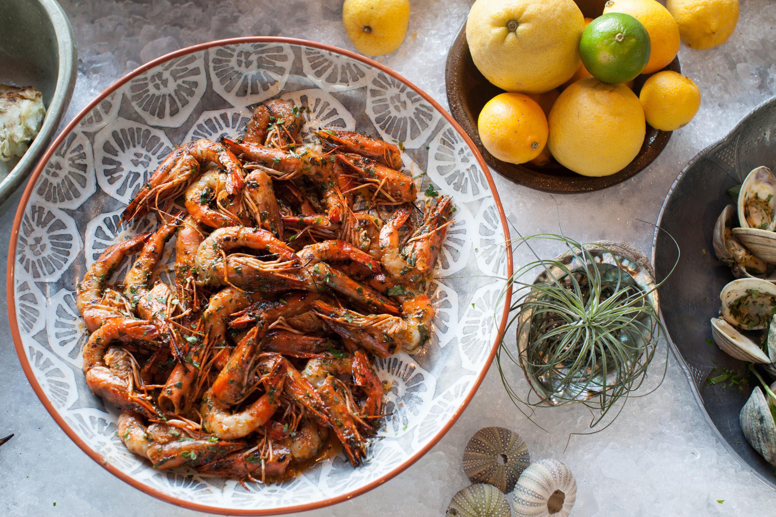 Cassia's Vietnamese Sunbathing Prawns Dish
